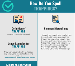 Correct spelling for trappings