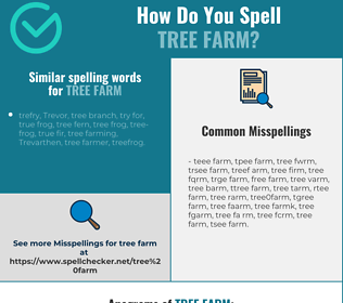 Correct spelling for tree farm