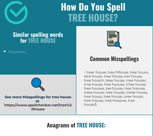 Correct spelling for tree house
