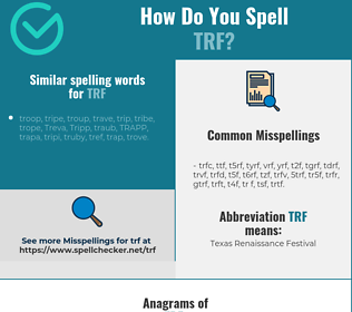 Correct spelling for trf