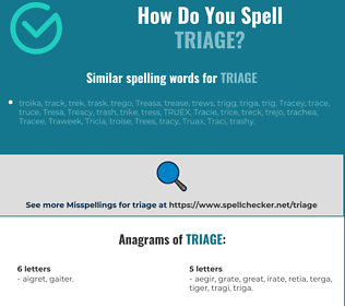 Correct spelling for triage