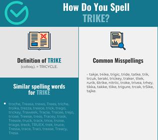 Correct spelling for trike