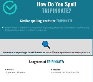 Correct spelling for tripinnate