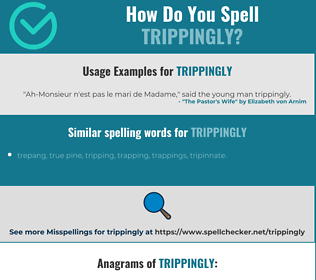 Correct spelling for trippingly