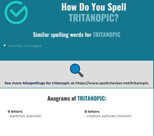 Correct spelling for tritanopic