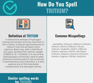 Correct spelling for tritium