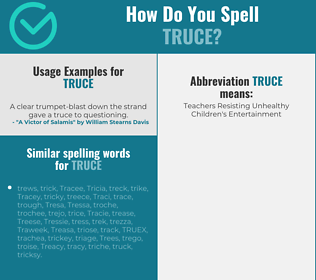 Correct spelling for truce