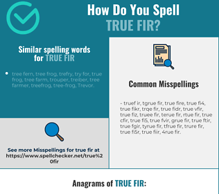 Correct spelling for true fir