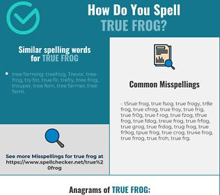 Correct spelling for true frog