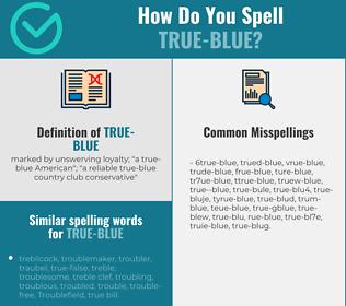 Correct spelling for true-blue