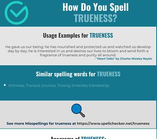 Correct spelling for trueness