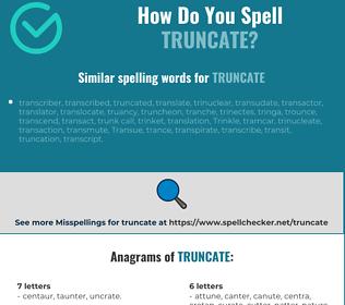 Correct spelling for truncate
