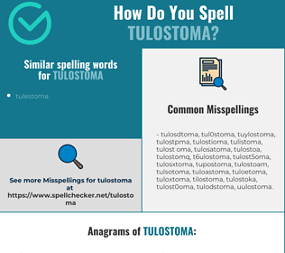 Correct spelling for tulostoma