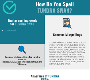 Correct spelling for tundra swan