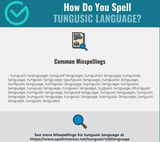 Correct spelling for Tungusic Language