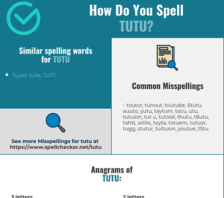 Correct spelling for tutu