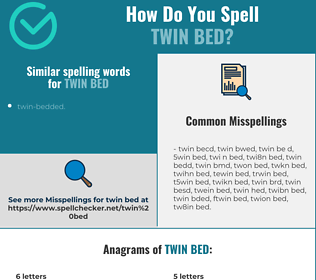 Correct spelling for twin bed