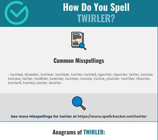 Correct spelling for twirler