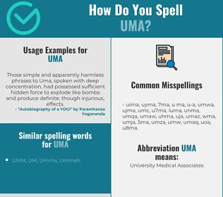 Correct spelling for uma
