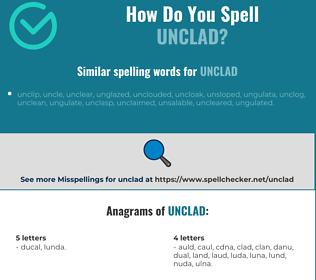 Correct spelling for unclad