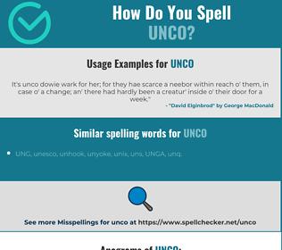 Correct spelling for unco
