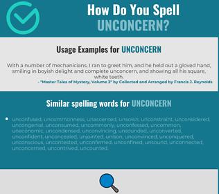 Correct spelling for unconcern