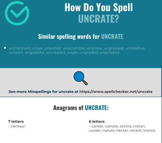 Correct spelling for uncrate