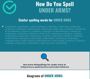 Correct spelling for under arms