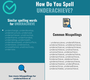 Correct spelling for underachieve
