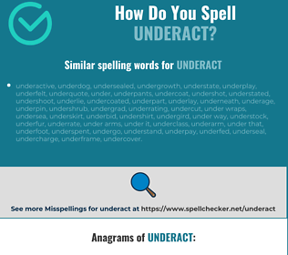 Correct spelling for underact