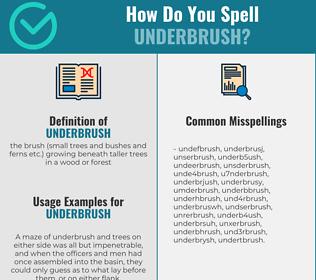 Correct spelling for underbrush
