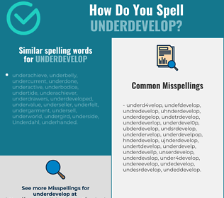 Correct spelling for underdevelop