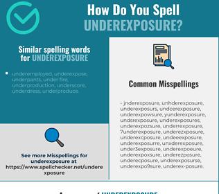 Correct spelling for underexposure