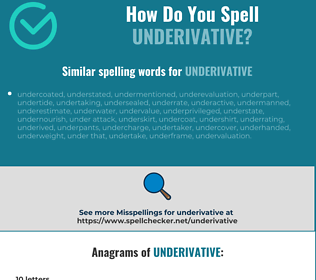 Correct spelling for underivative