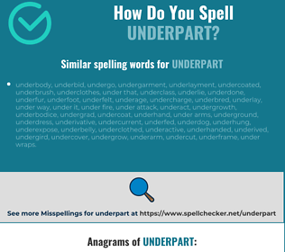 Correct spelling for underpart