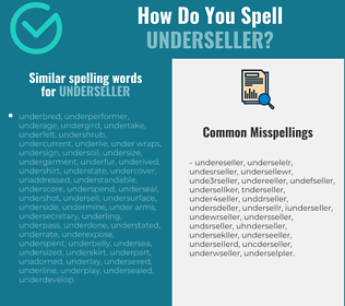 Correct spelling for underseller