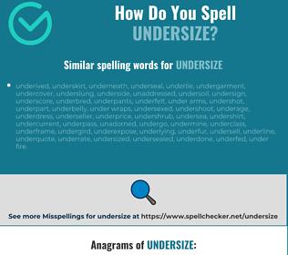 Correct spelling for undersize