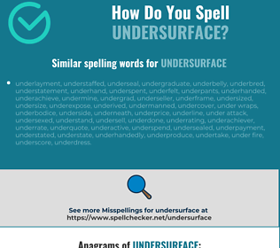 Correct spelling for undersurface