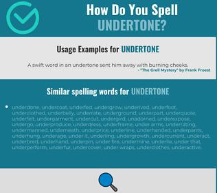 Correct spelling for undertone
