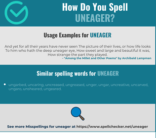 Correct spelling for uneager