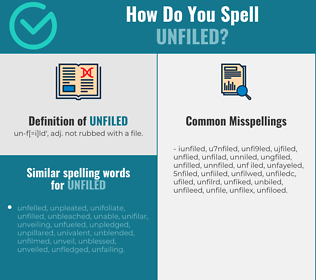 Correct spelling for unfiled