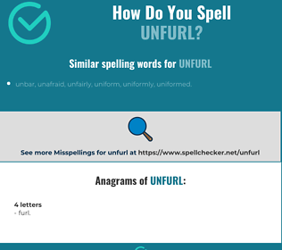Correct spelling for unfurl