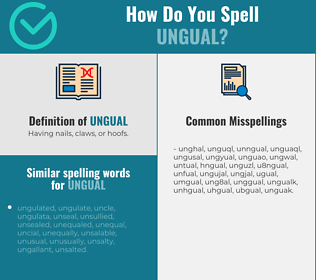 Correct spelling for ungual