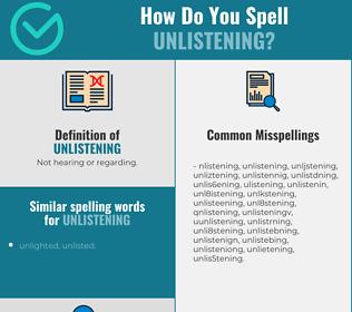 Correct spelling for unlistening