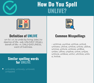 Correct spelling for unlive