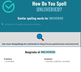 Correct spelling for unliveried
