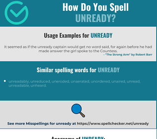 Correct spelling for unready
