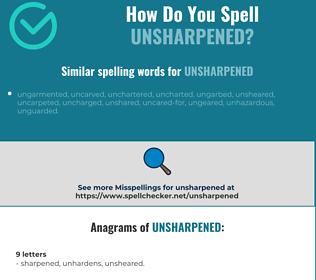 Correct spelling for unsharpened