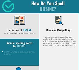Correct spelling for ursine