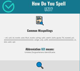 Correct spelling for uzi